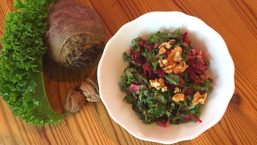 Schneller Grünkohl Salat
