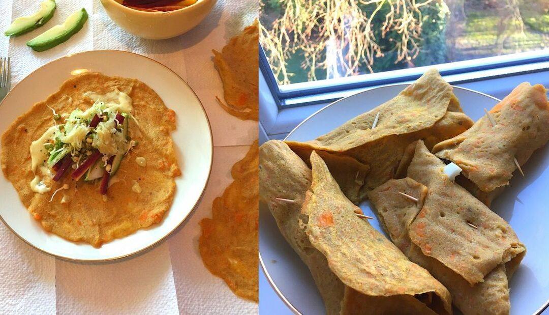 Buchweizen Süßkartoffel Wraps